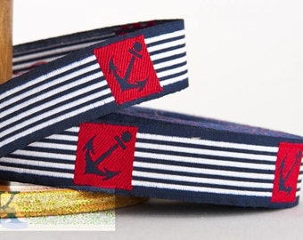 Anchor Ribbon - 1 meter, Item: 100236-03-100, Made in Germany