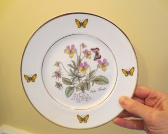 Royal Danube Butterflies and Floral Plates