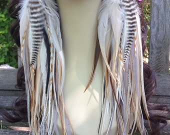 Thick Feather Earrings Owlita Inspired Big Natural Feather Jewelry Made To Order Limited Edition