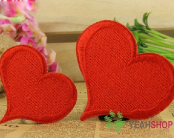Iron on Fabric Patches - Loving Hearts - Set of 2 - FP72