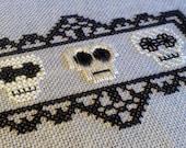 Cross Stitch Pattern - Skull Trio