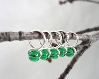 Pine Tree - Handmade Snag Free Knitting Stitch Markers (Small) - Fit up to size 8 US (5.0 mm)