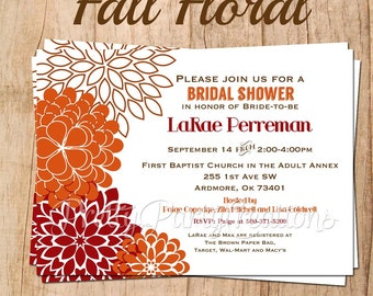 FALL FLORAL invitation - YOU Print
