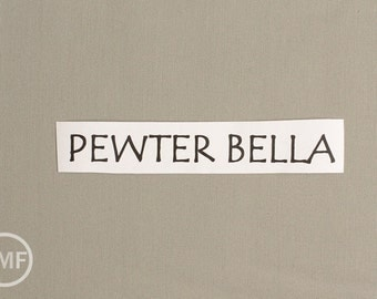 One Yard Pewter Bella Cotton Solid Fabric from Moda, 9900 239