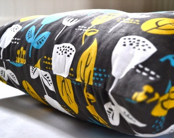 "Tufted Floor Pillow in Jessica Jones Fabric ""Outside Oslo Wildflower"" Home Decor"
