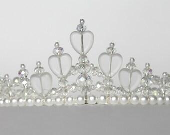Hearts and Crystals Princess Tiara