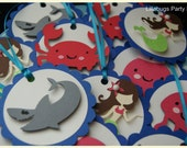 Under the Sea Creature Treat Bag Tags, Gift Bag Tags -- SET of 12