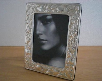 Handmade Sterling Silver Photo Picture Frame FRUTTA13x18 GB new