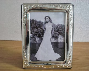 WEDDING GIFT Handmade Sterling Silver Photo Picture Frame 1010 13x18 GB new