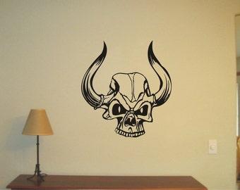 Skull  Wall Sticker, Wall Tattoo, Vinyl Decal