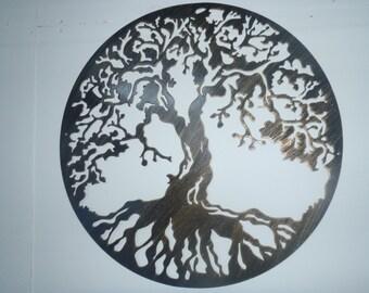 60 cm Tree Of Life, Metal Art - Antique Look