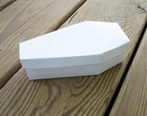 Coffin Printable Halloween Favor Box Blank Template DIY Halloween Goth