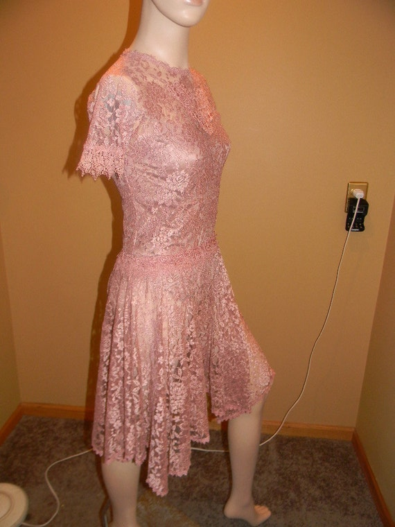Sheer Lace DressPEARL Mauve Blush Dress By