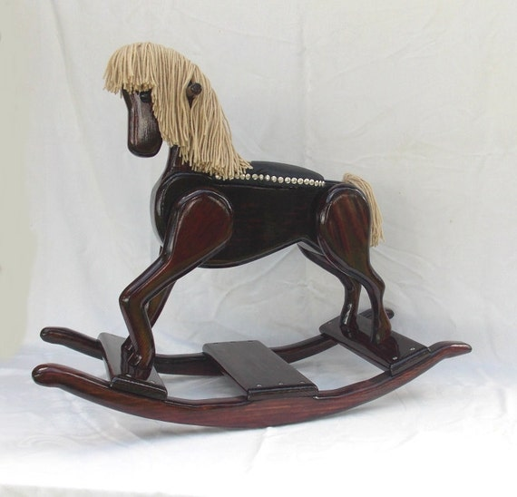 handmade wooden rocking handcrafted wooden rocking legacy pony edition 3584