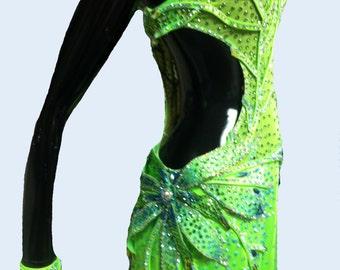 Green Ballroom Dance dress    Green Ballroom Dance gowns