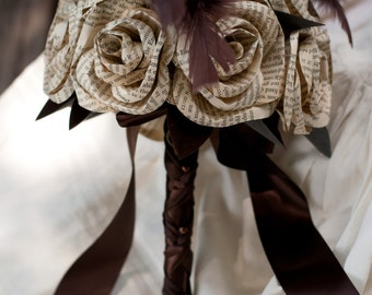Book Page Steampunk Bridal Bouquet