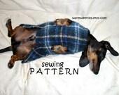 DIY Sewing Pattern Dachshund Sweater & Snood handmade pets clothing