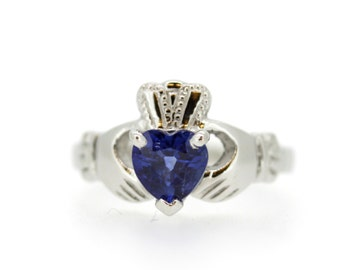 Claddagh Ring heart shape Birthstone