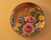 Decorative Painted Plate.... Gold Leaf and Decorative painting