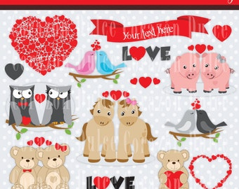 Valentines day images - Personal and Commercial Use Clip Art- INSTANT DOWNLOAD