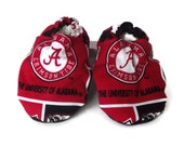 Baby Shoes, Baby Booties - The University of Alabama Crimson Tide  Print