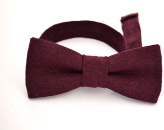Bowtie Boys Ages 2-10 in Eggplant
