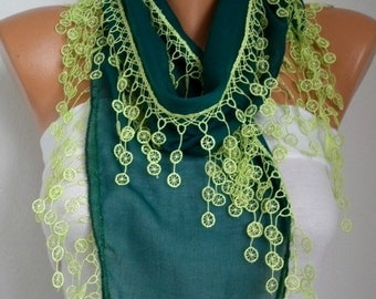 St. Patrick's Day Emerald Green Scarf Neon Green Cotton Cowl Bridesmaid Gift Gift Ideas For Her Women Fashion Accessories