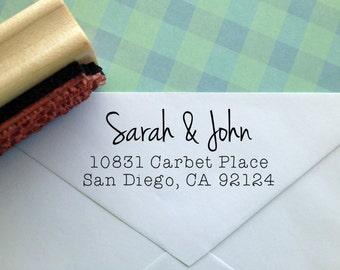 Modern Calligraphy Return Address Stamp
