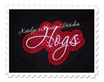 Hogs Applique Script