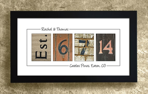 PERSONALIZED WALL DECOR - Frame Your Date, Wedding Gift, Anniversary Gift Idea