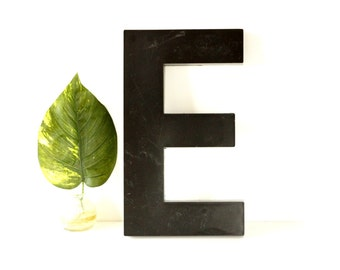 "Vintage Industrial Letter ""E"" 3D Sign Letter in Black Heavy Plastic (12"" tall) N2 - Industrial Home Decor, and more"
