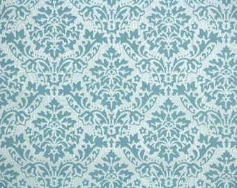 Retro Flock Wallpaper by the Yard 70s Vintage Flock Wallpaper - 1970s Blue Damask Flock