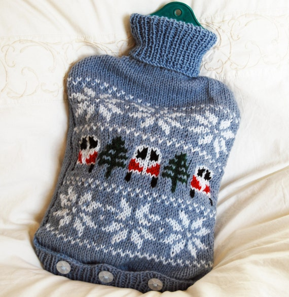 Vw Campervan Knitting Pattern : PDF Knitting Pattern for a Campervan Hot Water Bottle Cover