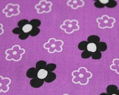 End Of Bolt/Destash/Remnant - 1 Yard 34 Inches by 44 Inches Wide - Posies & Polka Dot by VIP for Cranston - Flower/Floral/Polka Dot/Purple