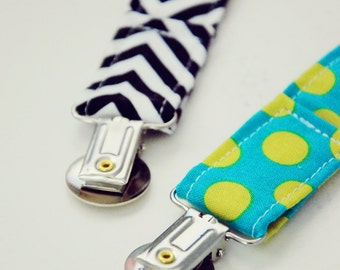 Pacifier Clips, YOU PICK 3 (Choose from over 40 fabrics)