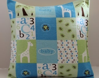 12x12 Flannel Baby Block Accent Pillow