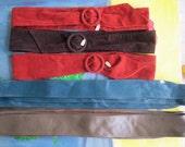 Vintage Belts - Leather and Velvet-like - Entire Lot