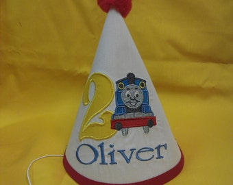 Personalized train party hat