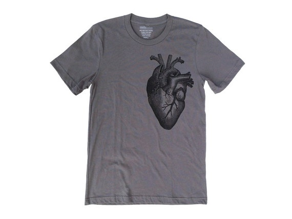 Valentine's Gift -  For Him - ANATOMICAL HEART T-Shirt for Men
