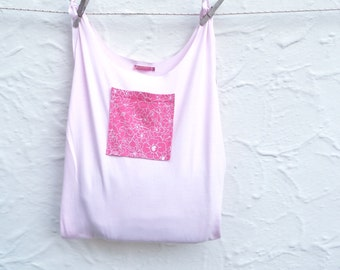 Reusable Grocery Bag Shopping Tote Eco Friendly Compact Fold Up Pink T-Shirt Bag