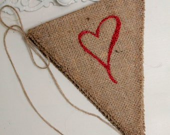 SALE! Love banner - Burlap Love banner for weddings, photo prop, baby shower MARKED DOWN from 25.00