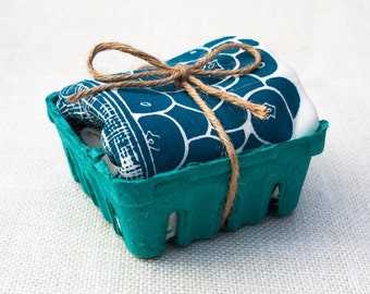 Blueberry Basket Flour Sack Dish Towel