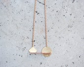 Geometric Playground Necklace Copper and Brass Balance