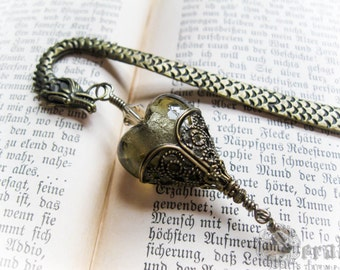 The Dragon Bookmark for Bibliophiles. Choose Egg or Heart. Game of Thrones, Norse Pagan Witch Pentagram. Viking.