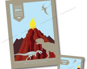 Dinosaur Dig Printable Invitation Set