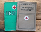 Vintage Water Safety and First Aid Manuals, c 1956 and c 1957 - American Red Cross