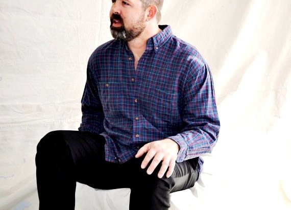 Men's Plaid Shirt Vintage Eddie Bauer Tartan Plaid XL Oxford Preppy Long Sleeves Cotton Twill