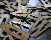 """Vintage Rusty Zinc Letter Alphabet - 3"""" Letters - Set of 26"""