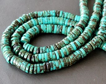 Turquoise Heishi / Disc Beads 10mm FULL STRAND (16 Inches)