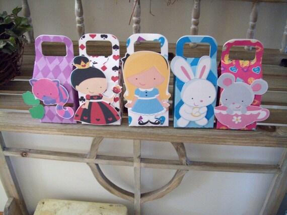 Alice in Wonderland Favor Boxes Set of 10